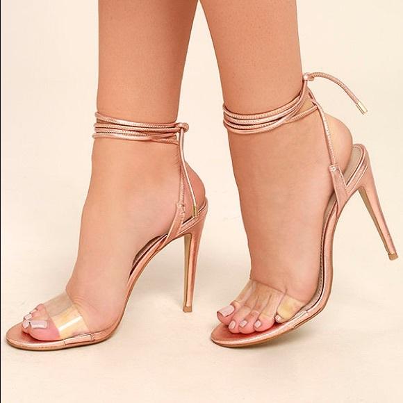 steve madden heels rose gold